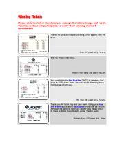 Winning Tickets - 4D2U com   Docsford